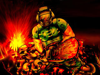 Doomguy in Doom Game wallpaper