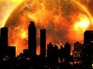 Doomsday Sun Fireball 8K wallpaper