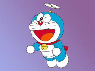 Doraemon Minimal 4K wallpaper