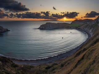 Dorset Bay Lulworth-Cov in England wallpaper