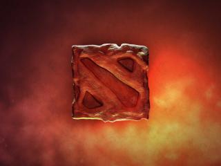 dota 2, logo, fire wallpaper