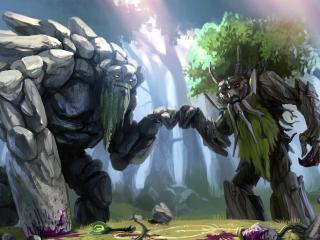 dota 2, treant protector, trees wallpaper