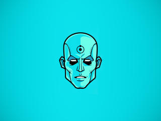 Dr Manhattan Minimalist wallpaper