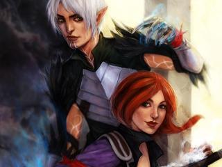 Dragon Age Hawke Fenris wallpaper