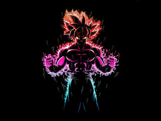 Dragon Ball Z Goku Ultra Instinct Fire wallpaper