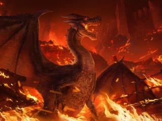 Dragon in Flame Monster Hunter wallpaper