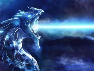 dragon, mouth, night wallpaper