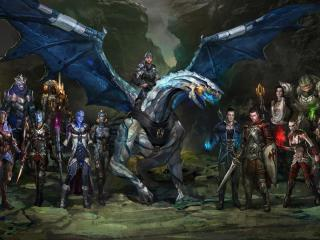 dragon, rider, creatures wallpaper