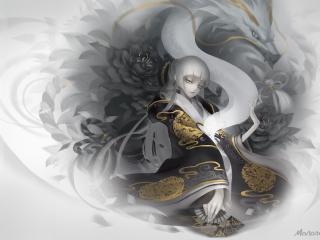 dragon spirit, dragon, girl wallpaper