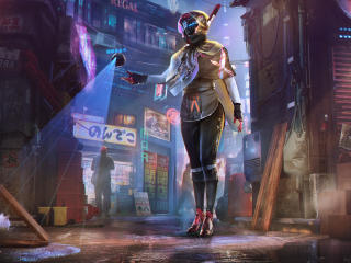 Droid Girl New Cyberpunk Art wallpaper