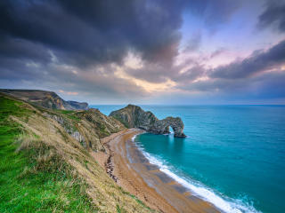 Durdle Door England 4K wallpaper