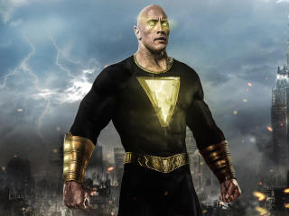 Dwayne Johnson as Black Adam Art wallpaper