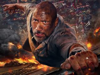 Dwayne Johnson in Skyscraper 2018 wallpaper