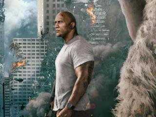 Dwayne Johnson Rampage Movie 2018 wallpaper
