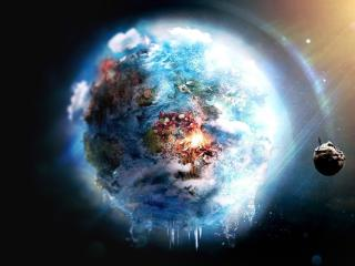 Earth Digital Artwork wallpaper