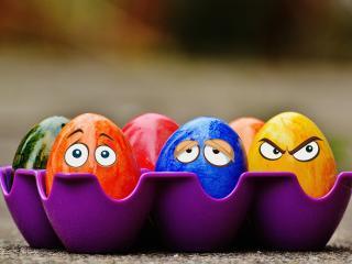 easter, eggs, eyes wallpaper