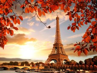 Eiffel Tower in Autumn France Paris Fall wallpaper