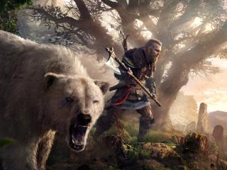 Eivor & Polar Bear Assassins Creed Valhalla wallpaper