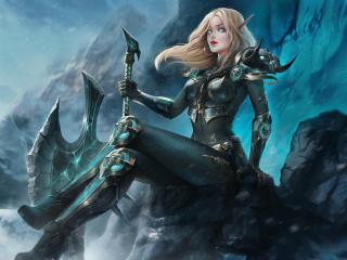Elf Woman Warrior wallpaper