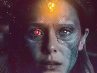 Elizabeth Olsen x Wanda Vision wallpaper