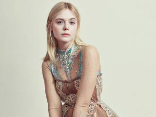 Elle Fanning Harper Bazaar 2018 Photoshoot wallpaper