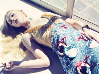 Elle Fanning On Bed Pic wallpaper