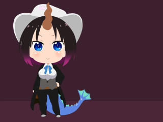 Elma Anime Minimal Art wallpaper