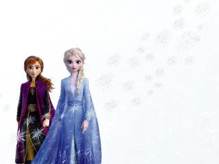 Elsa and Anna In Frozen 2 Movie wallpaper