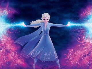 Elsa Frozen 4K wallpaper