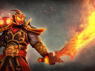 ember spirit, dota 2, flames of prosperity set wallpaper