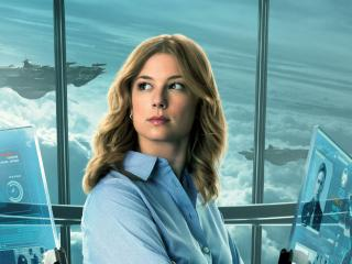 Emily VanCamp as Sharon Carter in The Falcon and the Winter Soldier wallpaper