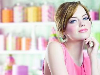 Emma Stone Pink Dress Images wallpaper