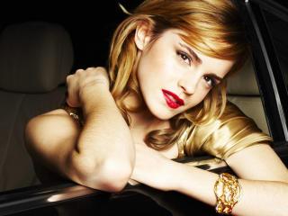 Emma Watson In Car Images wallpaper