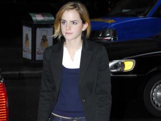 Emma Watson With Car Pic wallpaper