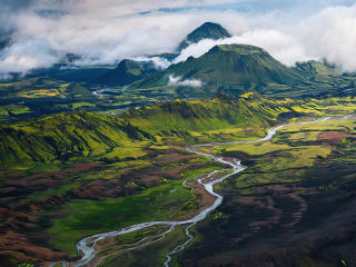 Epic Valley Landscape wallpaper