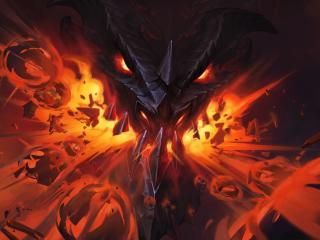 Erbe Der Drachen Hearthstone Dragon Flame wallpaper