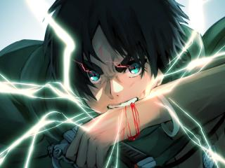 Eren Yeager Anime Art 4K wallpaper