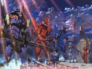 eva, robots, anime wallpaper