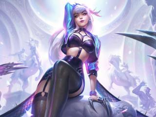 Evelynn 8K K/DA League Of Legends wallpaper