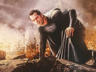 Evil Superman Synder Cut Art wallpaper