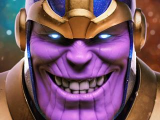 Evil Thanos Smile wallpaper
