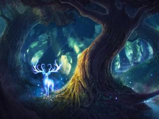 Fairy Deer wallpaper