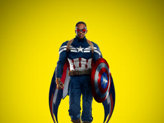 Falcon As Captain America Art wallpaper