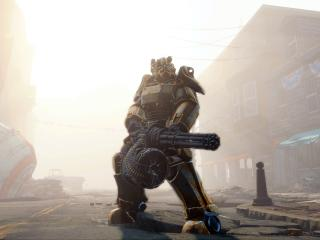 HD Wallpaper | Background Image fallout 4, gun, armor