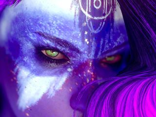 Fallout 4 Purple Girl wallpaper