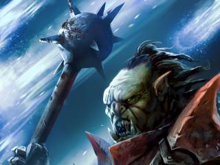 fangs, orc, mace wallpaper