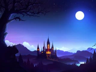 Fantasy Castle HD wallpaper