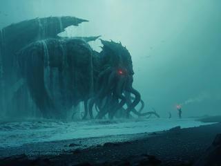 Fantasy Cthulhu Sea Monster wallpaper