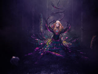Fantasy Digital Blonde Women wallpaper