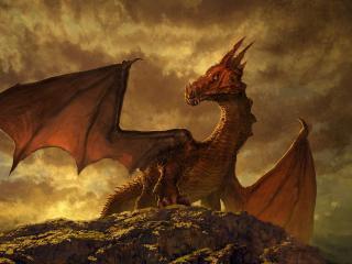 Fantasy Dragon 4k Art wallpaper